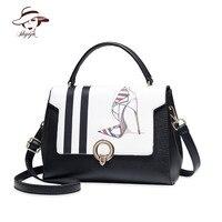 Casual Printing PU Leather Female Popular Famous Brand Women Shoulder Tote Bag Messenger Handbag Ladies Bolsa