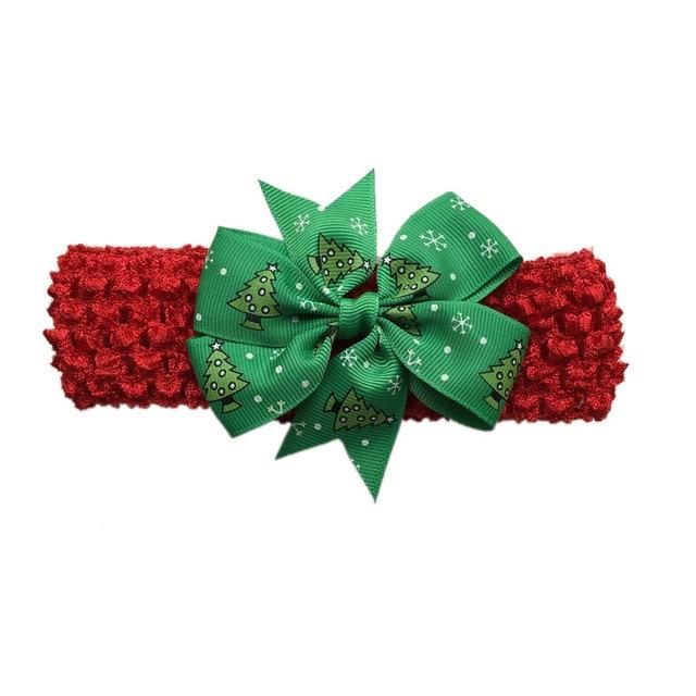 10 unids Rojo Verde de Navidad Diademas para Niñas, Copos de Nieve ...