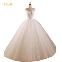 abule Wedding Dresses 2017 White Ball Gown turkey Sweetheart with detachable long train Lace up Bridal Dress Vestido de Noiva