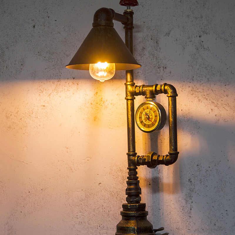 Lámpara Edison E27 para mesa de industria Steampunk, lámpara para estudio, oficina, dormitorio, sala de estar, escritorio, iluminación para restaurante, cafetería, accesorios de iluminación