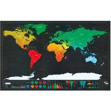 World Scratch Wall Map