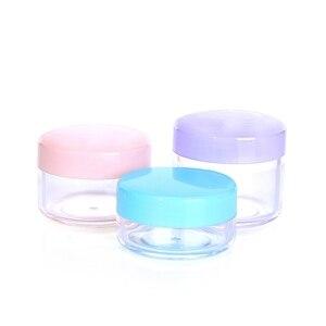 Image 2 - Sedorate 50 шт./лот, высококачественные пластиковые мини банки 10 г 15 г 20 г PS пустые круглые банки для крема, тени для век, контейнеры для макияжа ZM015