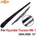 Mk qeepei traseras limpiaparabrisas y el brazo para hyundai tucson 1 2004-2009 12 ''5 puerta SUV Alta Calidad Iso9000 Natural caucho