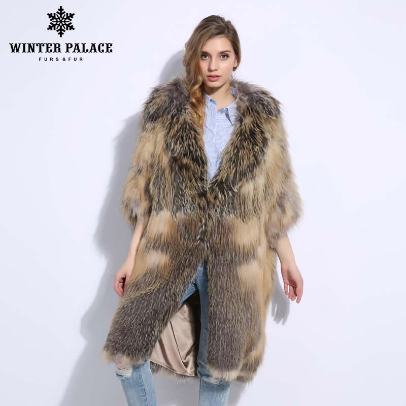 Fashion Luxurious Latest Color Women Natural Real Fox Fur Coat Comfortable Soft Fox Fur Knitted Real Fur Coat Warm Grace Jacket - 3