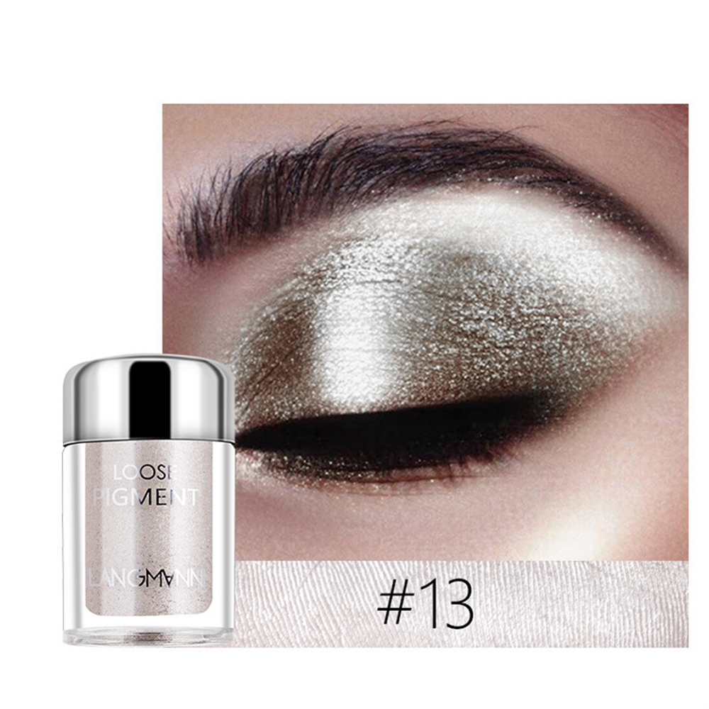 LANGMANNI 18 Color High Pearlescent Eye Shadow Powder Diamond Glitter Polarized Mermaid Ji Lip Glossing Powder Eyes shadow TSLM2 1