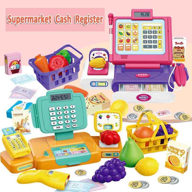 Kids Toys Cash Register with Sound Calculate Supermarket POS Toy Pretend Play Playing Sets for Children Girls Educational ToysKids Toys Cash Register with Sound Calculate Supermarket POS Toy Pretend Play Playing Sets for Children Girls Educational Toys