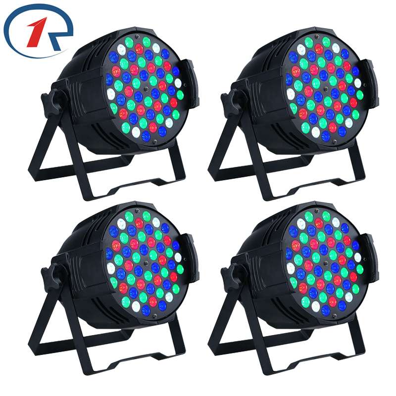 ZjRight 4pc/lot 30W 4 in 1 RGBW 54 LED Par lights DMX512 profession stage lighting party Disco concert Fast ship wedding lights magnum live in concert