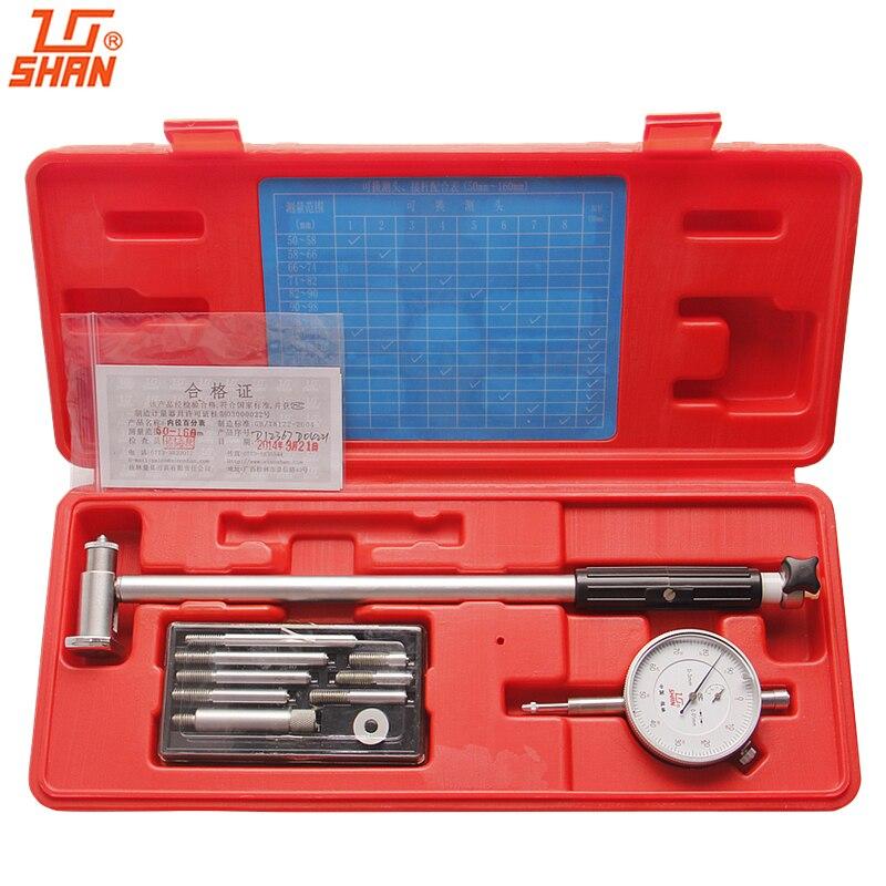 SHAN Dial Bore Gauge 50-160mm/0.01mm Metric Cilindro Interno Bore Comparatore di Misura Di Misura Gage strumenti