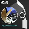 2016 Niños de La Lámpara Protección para Los Ojos Lámpara de Mesa Plegable de Moda Estudiante Estudio Lectura Dimmer USB Plegable Led Lámparas LED Luz de La Noche