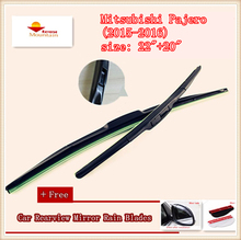 High Quality U-type Universal Car Windshield Wiper With Soft Natural Rubber For Mitsubishi Pajero (2015-2016),size: 22″+20″