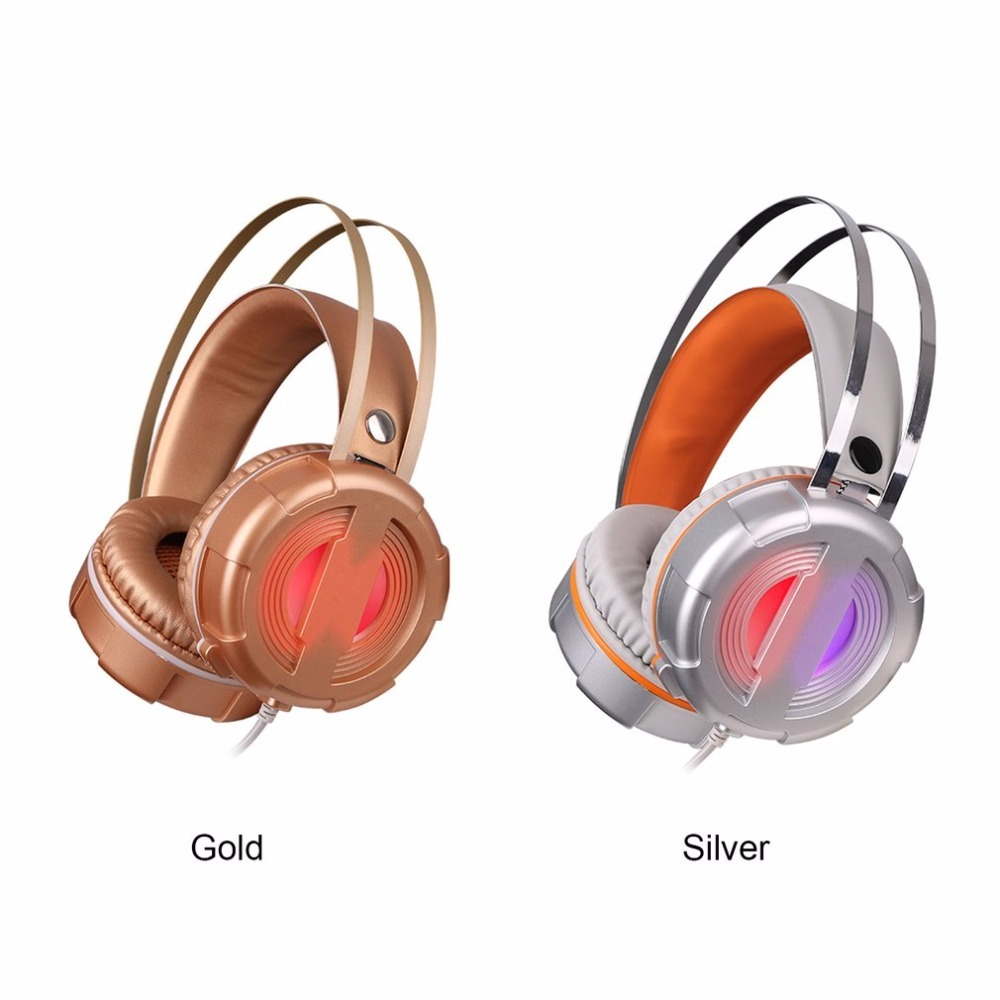 Gaming Headset LED Light Glow Noise Cancealing PC Gamer Super Bass Headband Headphones With Microphone For Computer PC deepdee gaming headset stereo headphones with microphone for xiaomi internet computer gamer noise canceling music bass headband