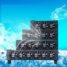 Aquarium fish tank automatic temperature control fan cooling aquarium water mute 1/2/3/4/5/6