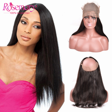 7A Brazilian Straight Frontal 360 Frontal Band 360 Lace Virgin Hair Ear to Ear Lace Frontal Full Lace 22*4*2 360  Handmade
