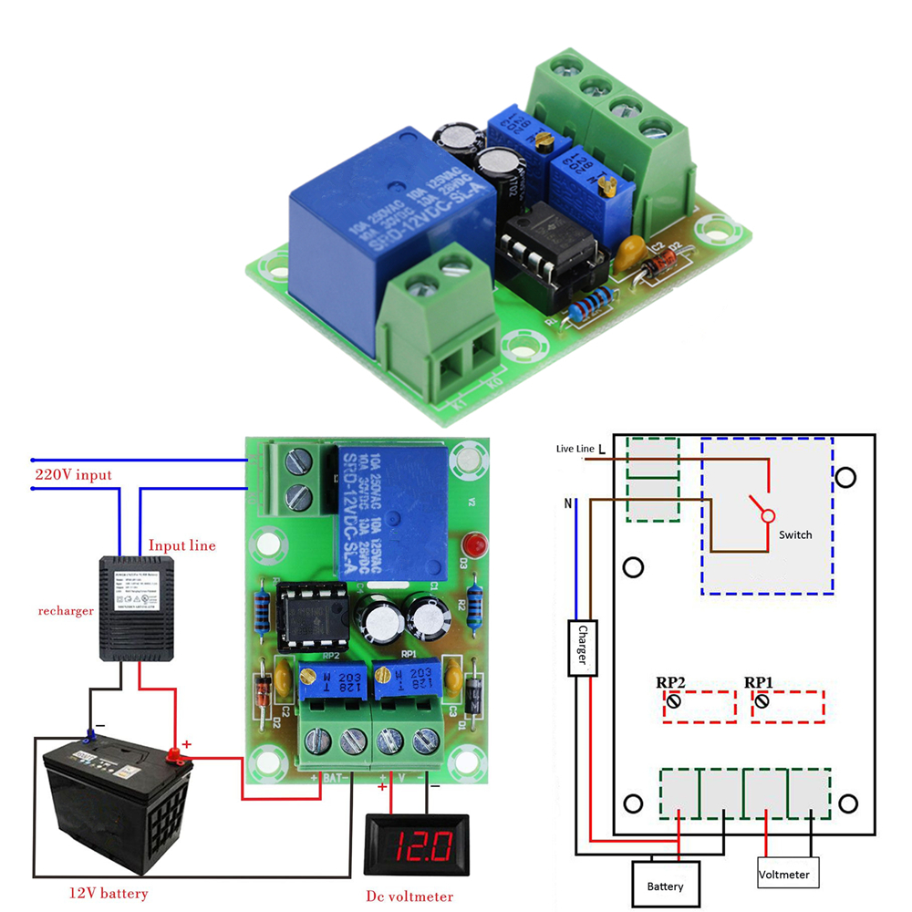 Xh M401 Dc 4 40v To 125 36v Step Down Buck Converter Power Led Voltmeter 5012 Psu Batt Chargers Electronic Components M601 Intelligent Charger Control Panel Automatic Charging 12v Battery Board