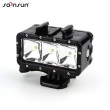 SOONSUN Underwater Waterproof Diving LED Light Spot Lamp for GoPro Hero 7 6 5 4 3 for Xiaomi Yi for SJCAM For Go Pro Accessories(China)