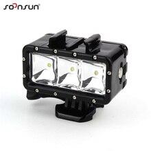 Soonsun Onderwater Waterdichte Duiken Led Light Spot Lamp Voor Gopro Hero 9 8 7 6 5 4 Voor Dji Osmo actie Voor Yi Go Pro Accessoire