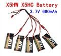 BLL Syma X5HW X5HC Four axis aircraft battery 3.7V 680mAh 25c 1 support 5 charging line Quadcopter Spare Parts