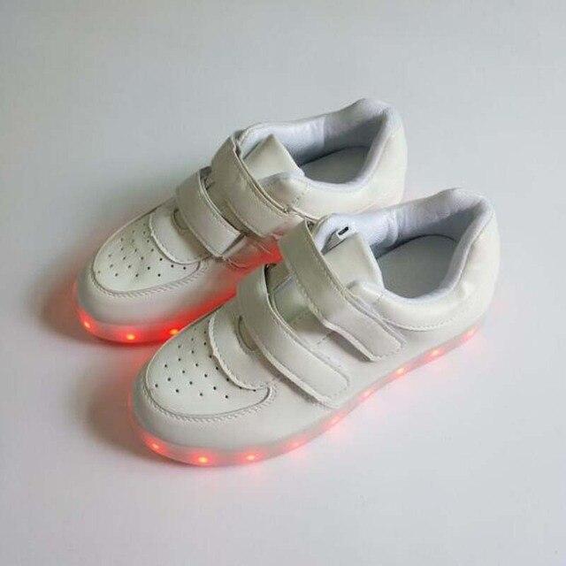 1bc0a07bcd Fashion kids sneakers kinder FÜHRTE Leuchtende schuhe jungen mädchen  USB-Lade Bunte led-leuchten