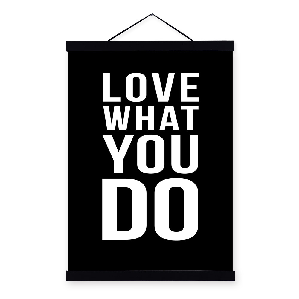 Love Black White Modern Inspirational Poster Prints Canvas Painting Wall Art Decor Book Motivational Quotes Gym For Kids In Calligraphy