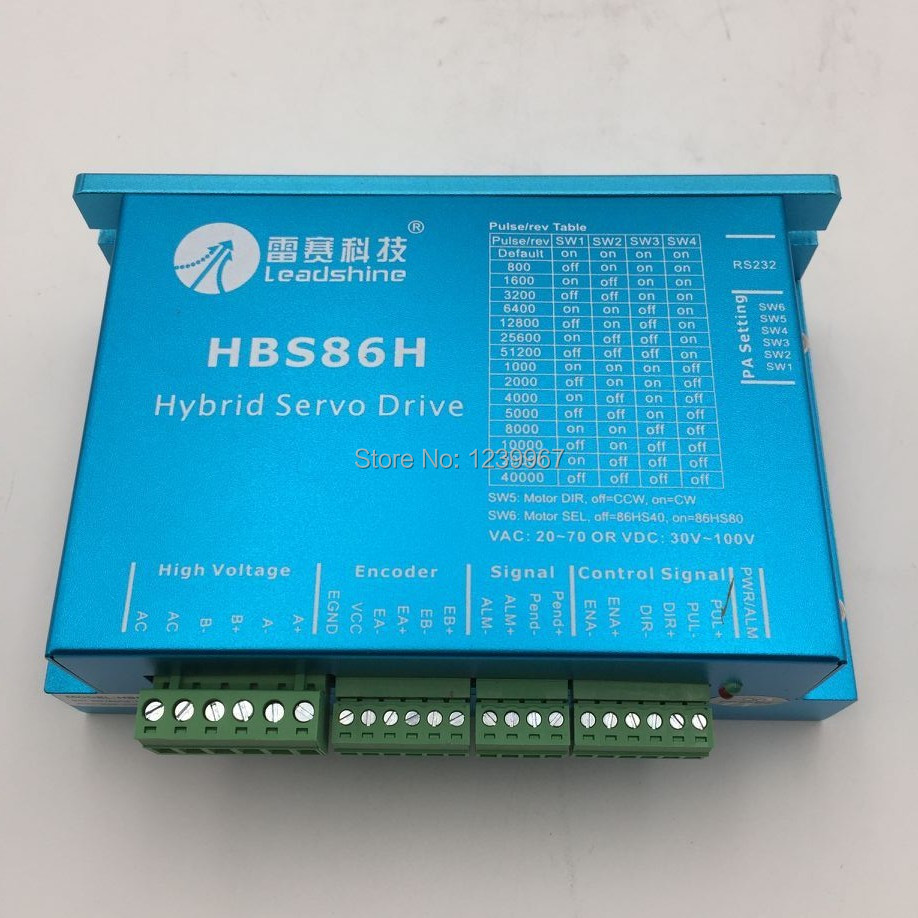2 Phase Hybrid Servo Driver HBS86H Closed-loop 8A 20-70VAC 30-100VDC RS232 to Drive NEMA 34 Hybrid Servo Motors CNC used 100% tested mcdht3520e ac servo drive mcdht3520e for pan servo driver mcdht3520e