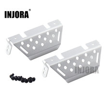 INJOR 2Pcs TRX-4 Aluminium Voor & Achter Chassis Armor Protector Plaat voor 1/10 RC Crawler Traxxas TRX4(China)