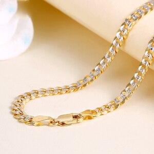 Image 2 - Collar de oro puro de 18K para hombre, cadena de oro sólido auténtico AU 750, joyería fina de fiesta clásica de lujo Simple, novedad de 2020