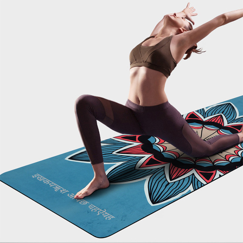 Suede Natural Rubber Yoga Mat Anti Slip Sweat Absorption 183*61cm*3.5mm Yoga Pad Fitness Gym Sports Exercise pad Yoga Mats chastep natural pvc yoga mat anti slip sweat absorption 183 61cm 6mm yoga pad fitness gym pilates sports exercise pad yoga mats