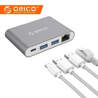 ORICO Aluminum HUB Type C to Type A / Type C / HDMI Converter Support PD Multi Function Laptop Station for MACbook PC