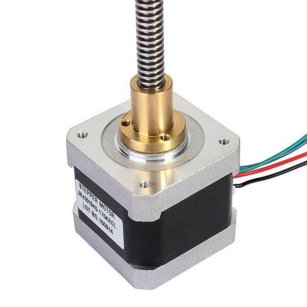 NEMA 17 42mm 1.8 Graus Fase 2 40mm Comprimento Do Motor de Passo Híbrido Motor de Passo Linear Para Router CNC