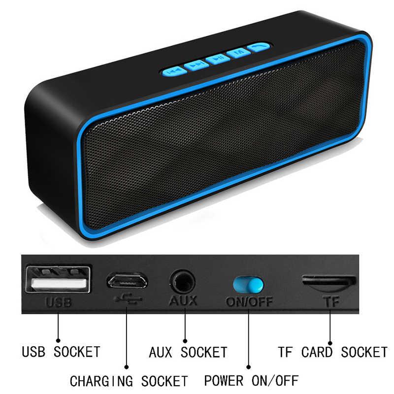 Ini 2019 Baru Portabel Bluetooth Speaker Subwoofer Speaker Nirkabel Speaker Sound System 3D Musik Stereo Surround Mendukung TF