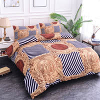 ZEIMON Geometric Polyester Duvet Cover+Pillowcases Stripe Soft Comforter 3D Bedding Sets Twin Double Queen King Size Home Decor