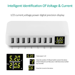 Image 2 - INGMAYA רב יציאת USB מטען 5V8A LED להראות אמיתי זמן טעינה עבור iPhone iPad מיני סמסונג Huawei פיקסל Mi DV AC חשמל מתאם