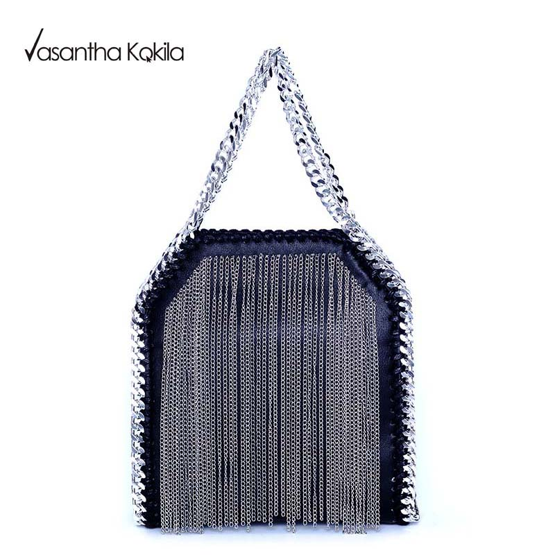 Moda Para Mujer de diseño Stella Cadena Detalle franja bolsa de Cross Body Bag H