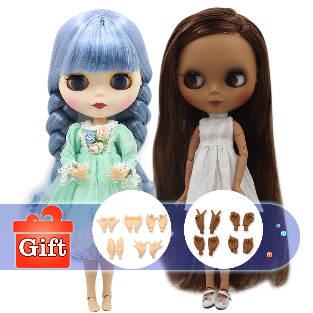 ICY factory Blyth doll nude normal and joint body fashion custom doll suitable diy makeup with hand set A&B Special price-in Dolls from Toys & Hobbies