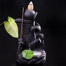 Q Creative Backflow Incense Burner Decoration Sandalwood furnace Water-flowing Ceremic Incense Holder