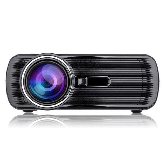 Proyector LCD LED HD Inicio Cine Teatro Multimedia LED Proyector LCD HD 1080 P PC TV USB VGA HDMI jan16