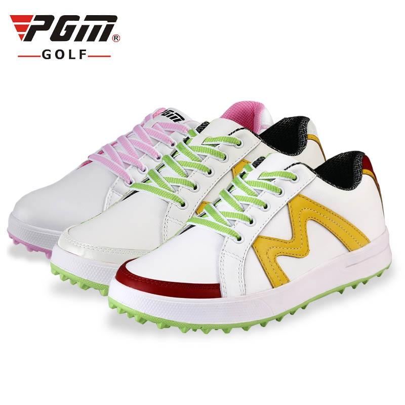 купить Brand PGM Genuine Leather Mens Waterproof Spiked Golf Sports Shoes Pro Tour Steady Spikes Sneakers Steady&Waterproof по цене 3615.56 рублей