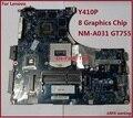 Excelente trabalho VIQY0 NM-A031 REV 1.0 placa-mãe com placa de vídeo Nvidia N14P-GT-A2 para Lenovo Y410P Laptop