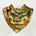 Mulheres Acessórios Padrão Clássico Praça Lenços de Seda Impresso Moda Inverno Manter Quente Decoração Lenço De Seda do Xaile do Lenço