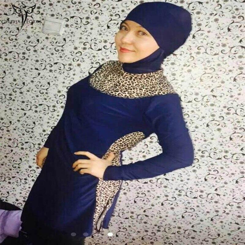 font b Muslim b font women swimwear hijab bathing suits high waist font b swimsuit