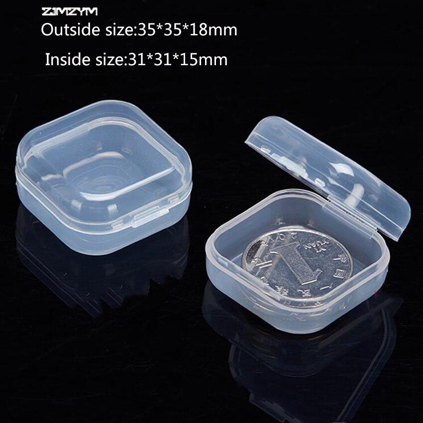 1 Stück Neue Tragbare Schmuck Werkzeug Box Container Ring Elektronische Teile Schraube Perlen Komponente Lagerung Box