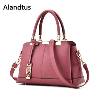 Alandtus Genuine Leather Women Handbags Fashion Female Shoulder Bag Casual Messenger Bags High Quality Lady Crossbody Bags