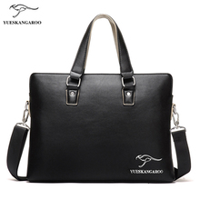 YUES KANGAROO New Brand Fashion Messenger Bag Men Leather Handbags Men's Casual Briefcase Shoulder Bags For Men Bolsa Feminina