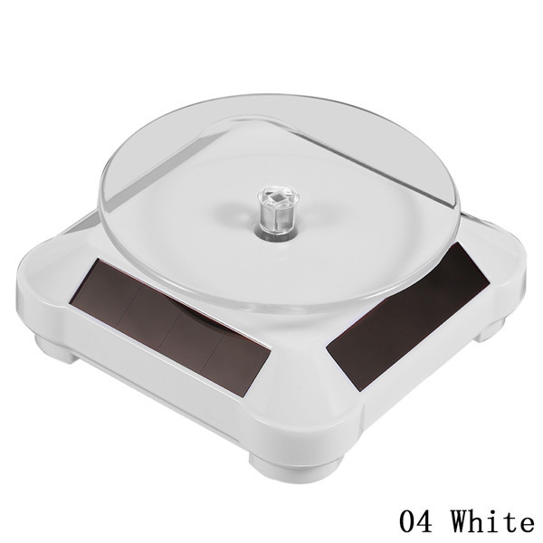 1pc Solar Showcase Automatic Rotating Stand 360 Turntable For Necklace Bracelet Watch Mobile Phone Display #252211