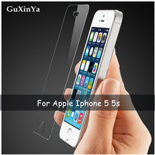 2pcs Tempered Glass For Apple Iphone 5 Screen Protector Glass For Apple Iphone 5s Anti-scratch Glass For Iphone 5s 5 Phone Film