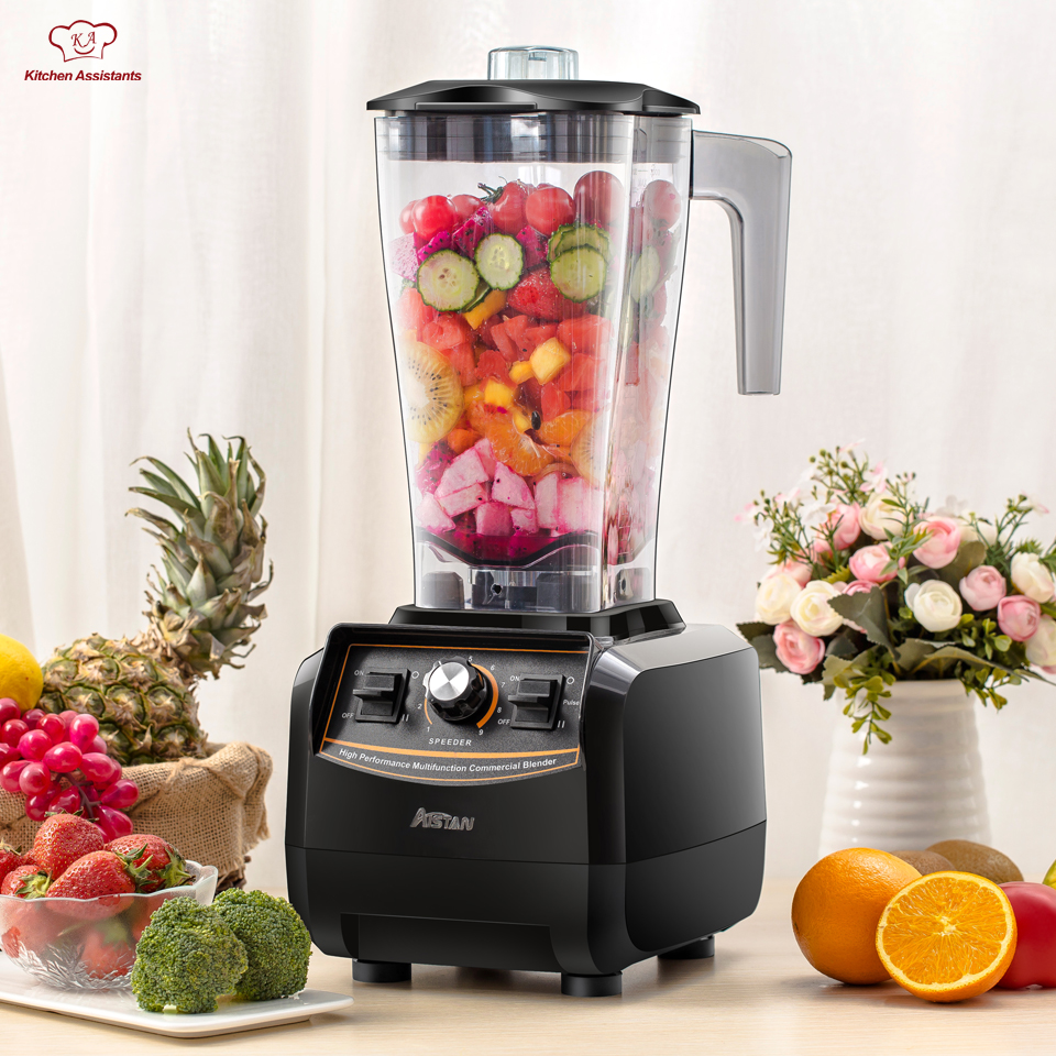 все цены на A5500 3L large capacity commercial electric multifunctional smoothie ice juice fruit blender with bpa free 3HP 2200W онлайн