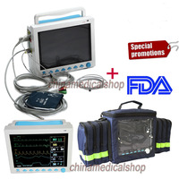 CE&FDA 12.1 ICU/CCU Multi Parameter Vital Signs Patient Monitor CONTEC CMS8000+bag