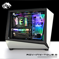 BYKSKI Acrylic Board Water Channel Solution kit use for IN WIN TOU2.0 case / Kit for CPU and GPU Block / Instead reservoir
