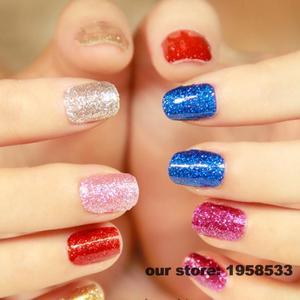 Image 4 - Paillettes en poudre acrylique pour Nail Art, paillettes de couleur Champagne, acrylique, pour Nail Art, décoration artisanale des ongles