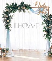 Square Iron Wedding Arch Decorative Garden Backdrop Stand Flower Frame For Marriage Birthday Wedding Party Decoration DIY Arch